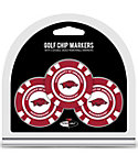 Team Golf Arkansas Razorbacks NCAA Golf Chips - 3 Pack