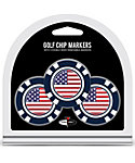 Team Golf USA Flag Golf Chips - 3 Pack