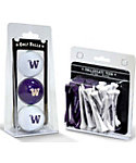 Team Golf Washington Huskies NCAA Golf Balls And Tees