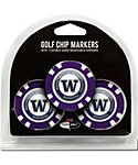 Team Golf Washington Huskies NCAA Golf Chips - 3 Pack