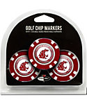 Team Golf Washington State Cougars NCAA Golf Chips - 3 Pack