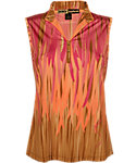 Jamie Sadock Women's Fringe Vertical Print Sleeveless Top