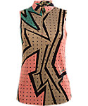 Jamie Sadock Women's Soft Toned Wham Geometric Sleeveless Top