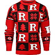 Klew Men's Rutgers Scarlet Knights Scarlet Ugly Sweater