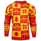 Klew Men's Iowa State Cyclones Cardinal Ugly Sweater