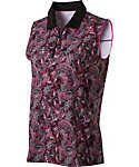 Lady Hagen Women's Paris Collection Paisley Print Sleeveless Polo