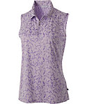 Lady Hagen Women's Aurora Collection Floral Sleeveless Polo