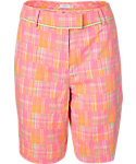 Lady Hagen Women's Islamorada Collection Patchwork Plaid Bermuda Shorts