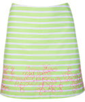 Lady Hagen Islamorada Collection Floral Embroidery Stripe Skort