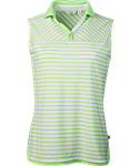 Lady Hagen Women's Islamorada Collection Stripe Sleeveless Polo