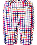 Lady Hagen Women's Sunset Collection Windowpane Bermuda Shorts