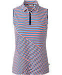 Lady Hagen Women's USA Essentials Collection Striped Sleeveless Polo