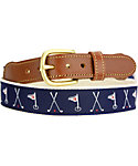 Leather Man Crossed Golf Clubs Belt