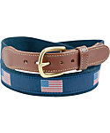 Leather Man American Flag Belt