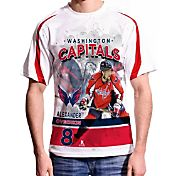 Levelwear Men's Washington Capitals Alex Ovechkin #8 Center Ice White T-Shirt