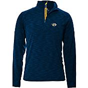 Levelwear Men's Nashville Predators Mobility Navy Quarter-Zip Shirt