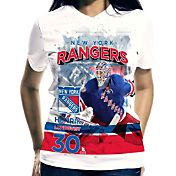Levelwear Women's New York Rangers Henrik Lundqvist #30 Center Ice White T-Shirt