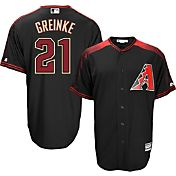 Majestic Men's Replica Arizona Diamondbacks Zack Greinke #21 Cool Base Alternate Black Jersey