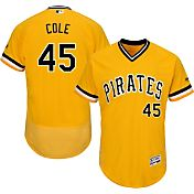 Majestic Men's Authentic Pittsburgh Pirates Gerrit Cole #45 Alternate Gold Flex Base On-Field Jersey