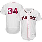 Majestic Men's Authentic Boston Red Sox David Ortiz #34 Home White Flex Base On-Field Jersey