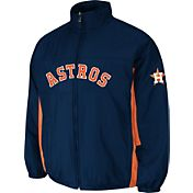 Majestic Men's Houston Astros Double Climate On-Field Navy Jacket