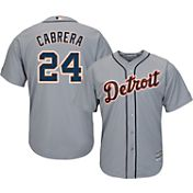 Majestic Men's Replica Detroit Tigers Miguel Cabrera #24 Cool Base Road Grey Jersey