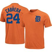 Majestic Triple Peak Men's Detroit Tigers Miguel Cabrera Orange T-Shirt