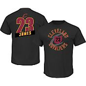 Majestic Men's Cleveland Cavaliers LeBron James #23 Black T-Shirt