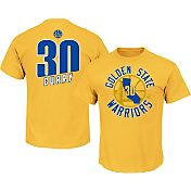 Majestic Men's Golden State Warriors Steph Curry #30 Gold T-Shirt
