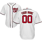 Majestic Youth Custom Cool Base Replica Washington Nationals Home White Jersey
