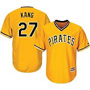 Majestic Youth Replica Pittsburgh Pirates Jung-ho Kang #27 Cool Base Alternate Gold Jersey