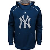 Majestic Youth New York Yankees Navy Paramount Pullover Hoodie