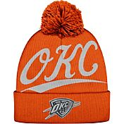 Mitchell & Ness Men's Oklahoma City Thunder Script Orange Knit Hat