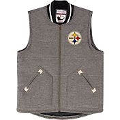 Mitchell & Ness Men's Pittsburgh Steelers Margin of Victory Grey Vest
