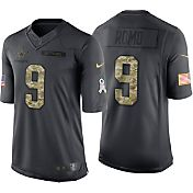 Nike Men's Home Limited Jersey Dallas Cowboys Tony Romo #9 Salute to Service 2016