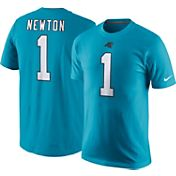 Nike Men's Carolina Panthers Cam Newton #1 Pride Blue T-Shirt