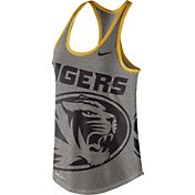 Nike Women's Missouri Tigers Grey Dri-Blend Gear Up Racerback Tank