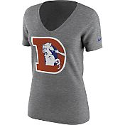 Nike Women's Denver Broncos Historic Logo Tri-Blend V-Neck T-Shirt