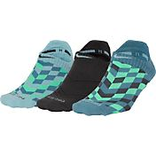 Nike Women's Dri-FIT Cushion Graphic No Show Socks 3 Pack