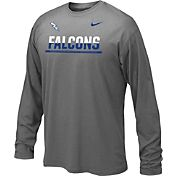Nike Youth Air Force Falcons Anthracite Staff Sideline Long Sleeve Shirt