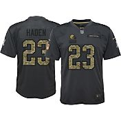 Nike Youth Home Game Jersey Cleveland Browns Joe Haden #23 Salute to Service 2016