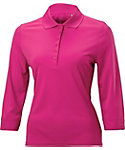 Nancy Lopez Women's Luster 3/4-Sleeve Polo - Plus Size