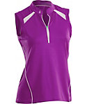 Nancy Lopez Women's Sporty Sleeveless Polo