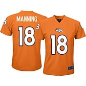 NFL Team Apparel Youth Denver Broncos Peyton Manning #18 Orange T-Shirt