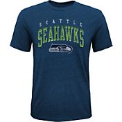 NFL Team Apparel Youth Seattle Seahawks Wheels Tri-Blend T-Shirt