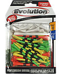 Pride Evolution 3 1/4'' & 1 1/2'' Assorted Golf Tees - 50 Pack