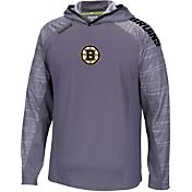 Reebok Men's Boston Bruins Center Ice Locker Room TNT Training Grey Hoodie