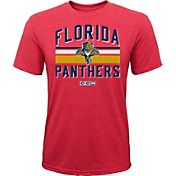 CCM Youth Florida Panthers Classic Stripe Red T-Shirt