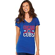 Soft As A Grape Women's Chicago Cubs Royal V-Neck T-Shirt