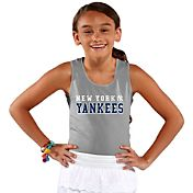 Soft As A Grape Youth Girls' New York Yankees Grey Tank Top